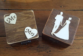 The wedding box This is what your wedding USB drives live in. You get to choose one box from these two styles of hand made wooden boxes. I think it's important to have something beautiful for your wedding photography to live in.